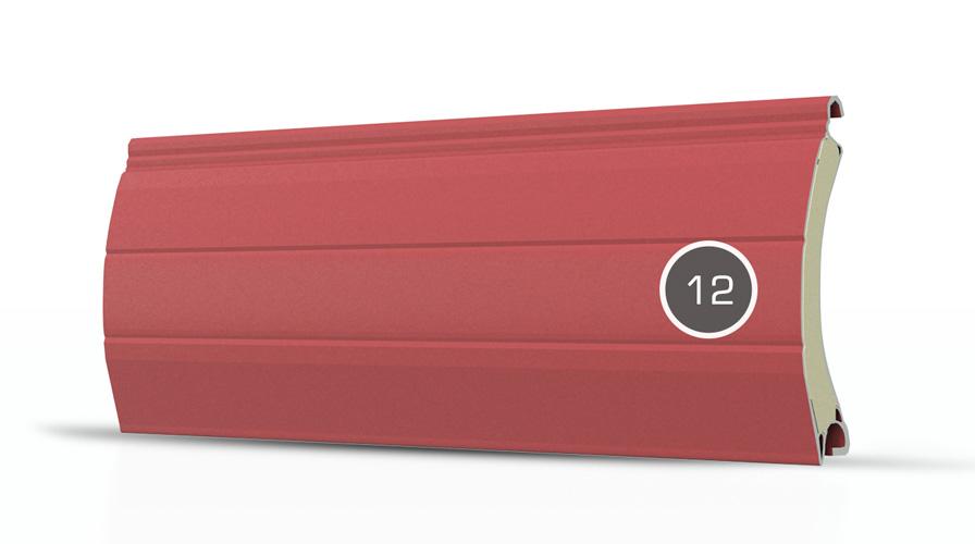 12 pancerz lamelka czerwony