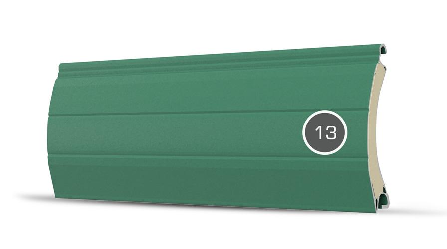 13 pancerz lamelka zielony