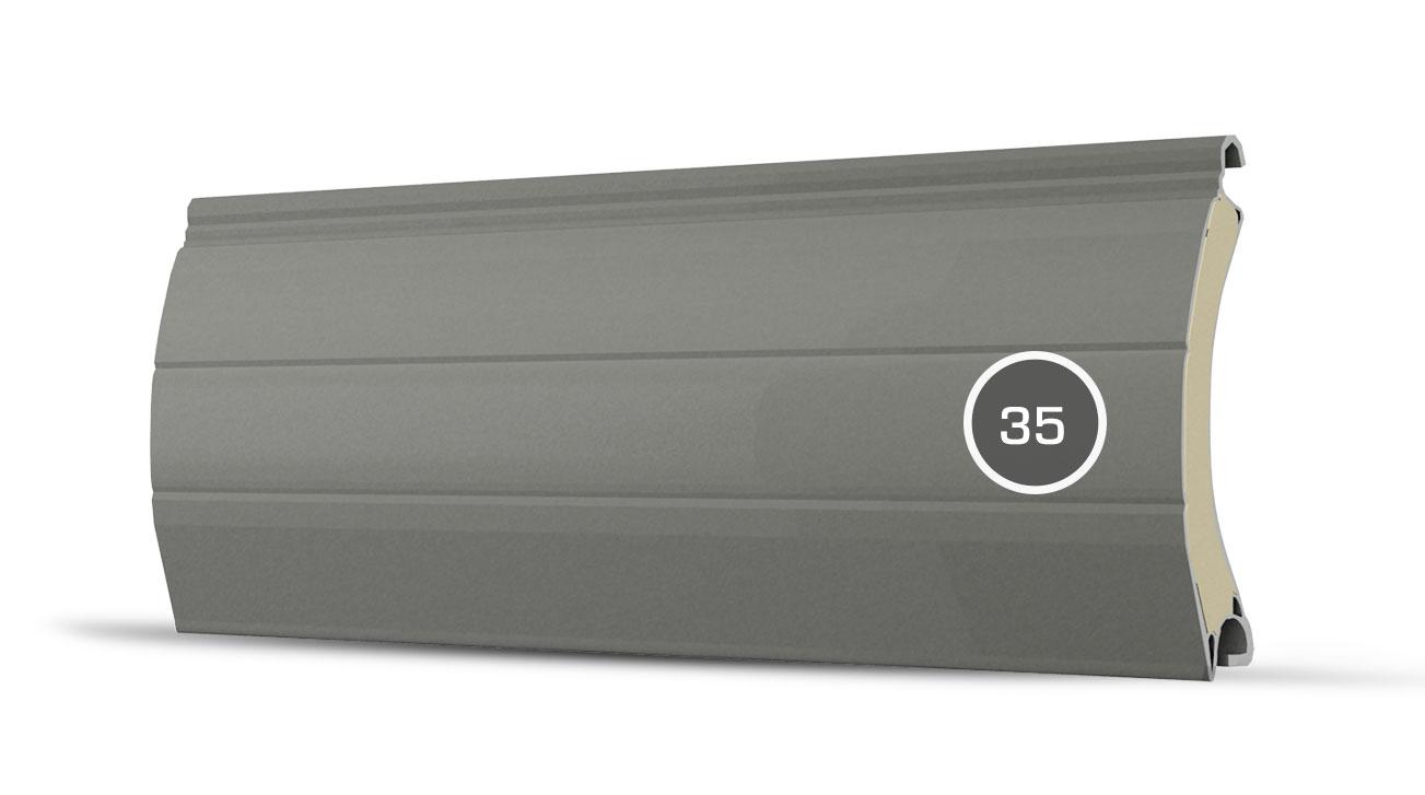 35 pancerz lamelka beton szary